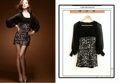 OH132-dress-brukat-spandex-tangan-sifon-import