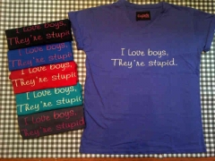 TEE-030-cupid I love boys they are stupid Ecer XL @ 50